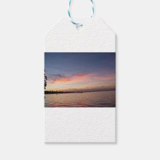 Etiqueta Para Presente Por do sol sobre a baía de Florida, Largo chave FL