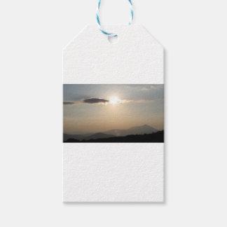 Etiqueta Para Presente Por do sol sobre montanhas