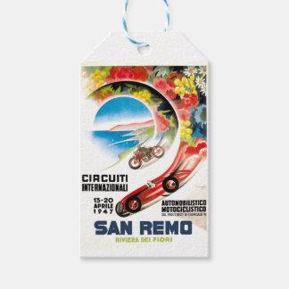 Etiqueta Para Presente Poster 1947 grande da raça de San Remo Prix