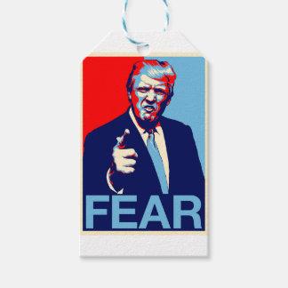 """Etiqueta Para Presente Poster 2017 da paródia do """"medo"""" de Donald Trump"""