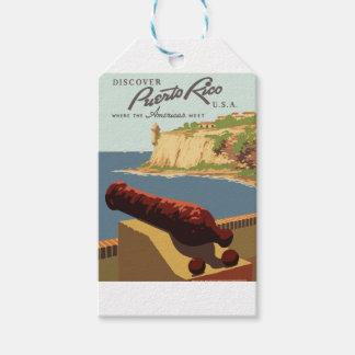 Etiqueta Para Presente Poster Puerto Rico das viagens vintage