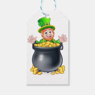 Etiqueta Para Presente Pote do Leprechaun do dia de Patricks do santo do
