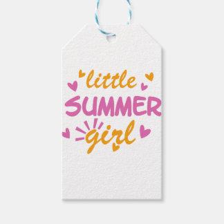 Etiqueta Para Presente Pouco design legal da menina do verão