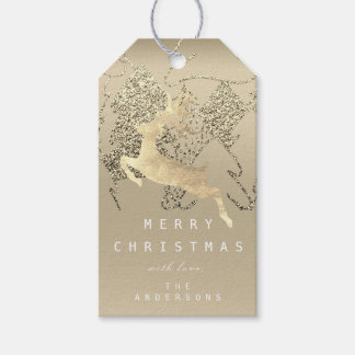 Etiqueta Para Presente Presente à árvore de Natal do ouro do Sepia do