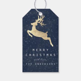 Etiqueta Para Presente Presente alegre do feriado para etiquetar o azul