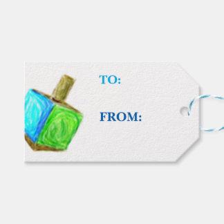 Etiqueta Para Presente Presente de Dreidel Tag-Horizontal