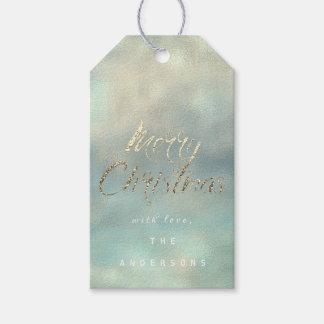 Etiqueta Para Presente Presente do Feliz Natal à serapilheira azul da