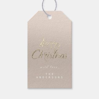 Etiqueta Para Presente Presente do Feliz Natal para script o marfim de