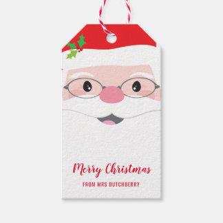 Etiqueta Para Presente Presente moderno do Natal festivo do hipster da