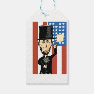 Etiqueta Para Presente Presidente Lincoln Costume Presente Tag