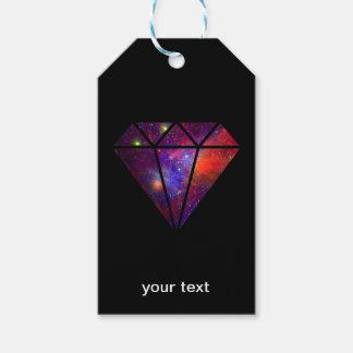 Etiqueta Para Presente preto cor-de-rosa colorido da nebulosa moderna