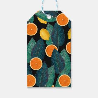 Etiqueta Para Presente preto dos limões e das laranjas