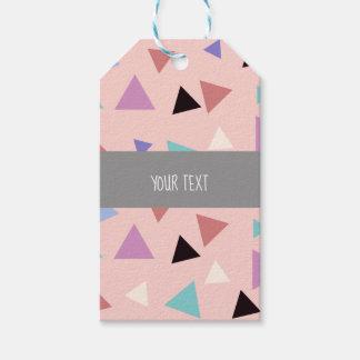 Etiqueta Para Presente Preto roxo da hortelã do rosa geométrico elegante