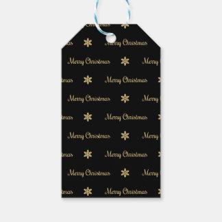 Etiqueta Para Presente Preto & Tag do presente do Feliz Natal do ouro