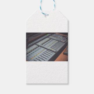 Etiqueta Para Presente Pro estúdio do áudio da música do console do
