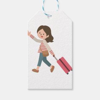 Etiqueta Para Presente Puxando a bagagem