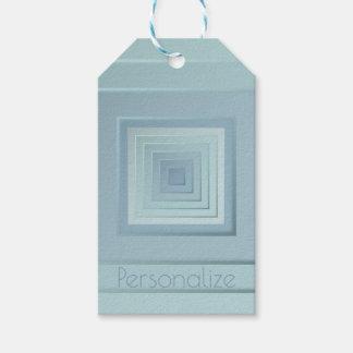 Etiqueta Para Presente Quadrados geométricos elegantes