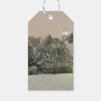 Etiqueta Para Presente Quedas de cristal, Tag do presente do inverno do