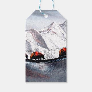 Etiqueta Para Presente Rebanho de iaques Himalaya da montanha