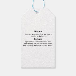 Etiqueta Para Presente Refugiados emigrantes