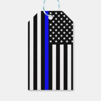Etiqueta Para Presente Relembrança fina de Blue Line da bandeira