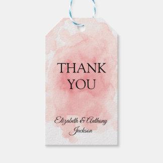 Etiqueta Para Presente Respingo de Tag elegantes cor-de-rosa do presente