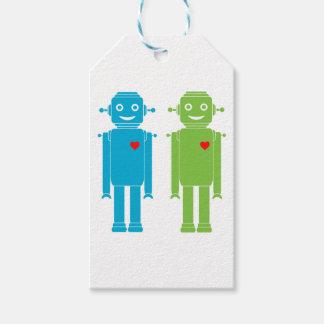 Etiqueta Para Presente Robôs alegres