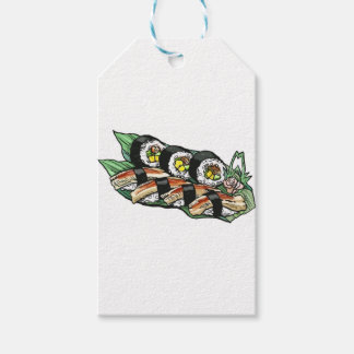 Etiqueta Para Presente Rolo de sushi