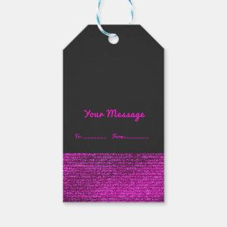 Etiqueta Para Presente Rosa & chique elegante dos Sequins Glam modernos