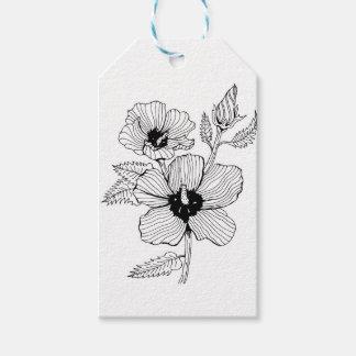 Etiqueta Para Presente Rosa do hibiscus da flor de Sharon