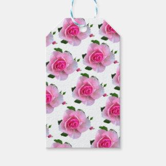 Etiqueta Para Presente Rosas cor-de-rosa brancos