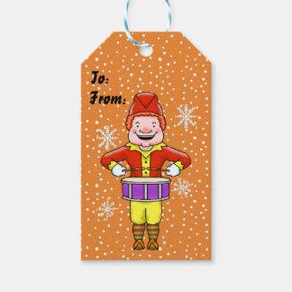 Etiqueta Para Presente Rufando Tag do presente do Natal do duende