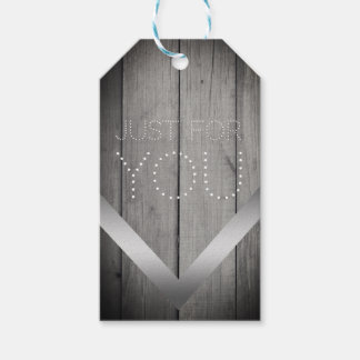 """Etiqueta Para Presente Rústico """"apenas para você"""" Tag de madeira cinzento"""