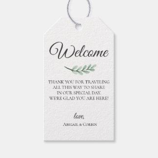 Etiqueta Para Presente Saco da boa vinda do casamento do ramo do