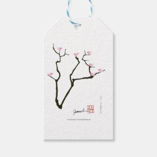 Etiqueta Para Presente sakura e 7 pássaros cor-de-rosa 1, fernandes tony