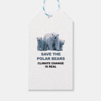 Etiqueta Para Presente Salvar os ursos polares
