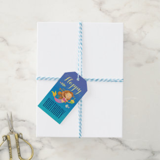 Etiqueta Para Presente Sereia com o Tag do presente do cupcake do
