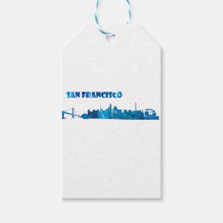 Etiqueta Para Presente Silhueta da skyline de San Francisco