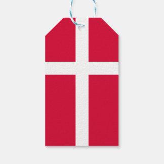 Etiqueta Para Presente Símbolo da bandeira de país de Dinamarca por muito