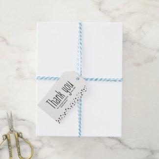 Etiqueta Para Presente Simples, preto e branco, obrigado, elegante