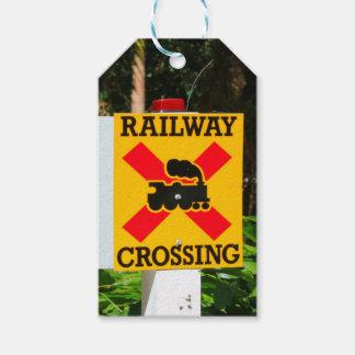 Etiqueta Para Presente Sinal do cruzamento Railway