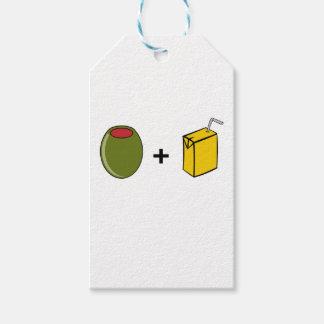 Etiqueta Para Presente Suco verde-oliva eu te amo
