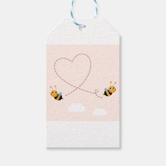 Etiqueta Para Presente T-shirt dos DESENHISTAS com abelhas do amor