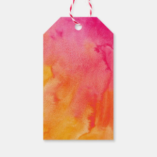 Etiqueta Para Presente Tag alaranjado cor-de-rosa do casamento da