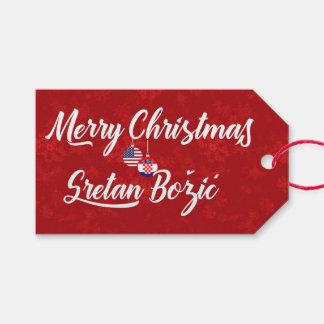 Etiqueta Para Presente Tag americanos croatas bilíngües do presente de