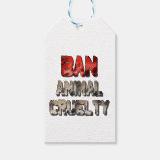 Etiqueta Para Presente Tag animais do presente da crueldade da proibição