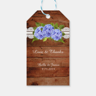 Etiqueta Para Presente Tag azul do presente do favor do casamento do