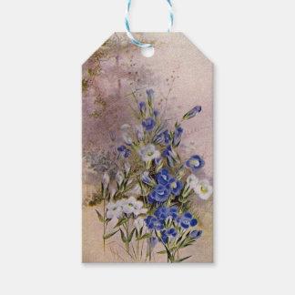 Etiqueta Para Presente Tag botânicos franjados do presente do Wildflower