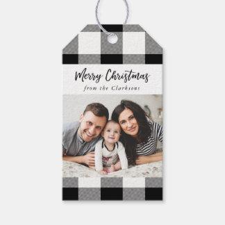 Etiqueta Para Presente Tag branco do presente da foto do Natal da