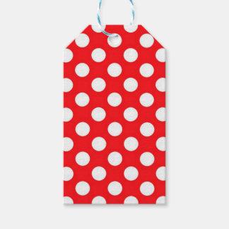 Etiqueta Para Presente Tag brancos vermelhos das bolinhas  